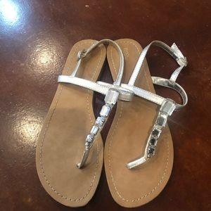 Sliver bling sandals